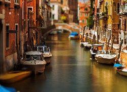 Wenecja, Włochy, Kanał, Dom, Łodzie, Rzeka