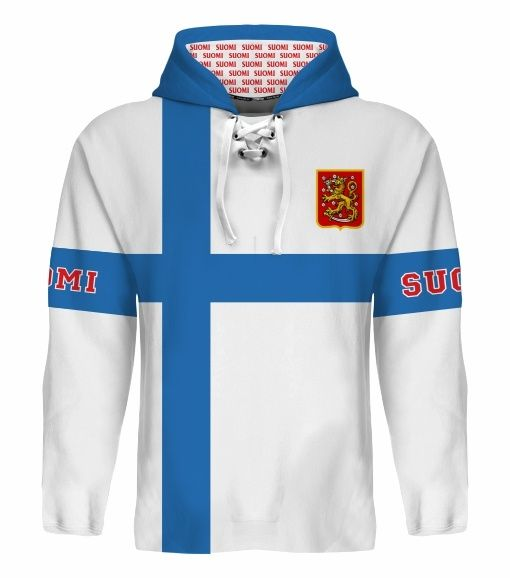 NEW 2015 Finland Suomi Hockey World Cup Hoodie NHL Jokinen Ruutu Barkov Rinne