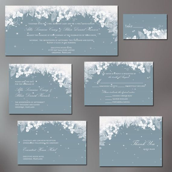 61 best Winter wonderland images – Fall or Winter Theme Invitation Cards