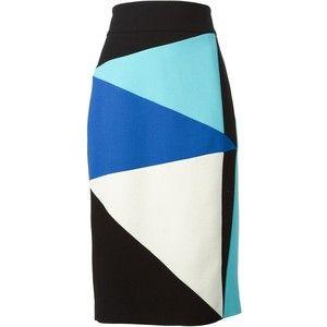 Fausto Puglisi Colour Block Pencil Skirt