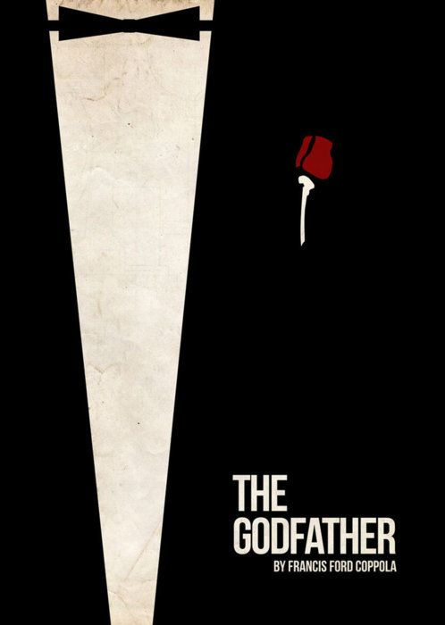 The Godfather minimalist movie poster