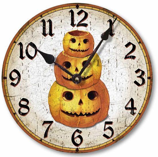 Item C1550 Vintage Style Halloween Pumpkin Clock