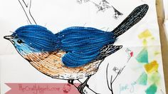 quilled bird quilling combing technique tutorial (7)