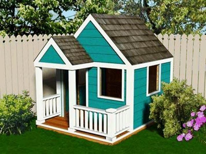 cheap wooden kids playhouse