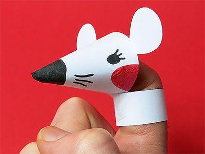 Fingerspiel Maus basteln - DIY Anleitung