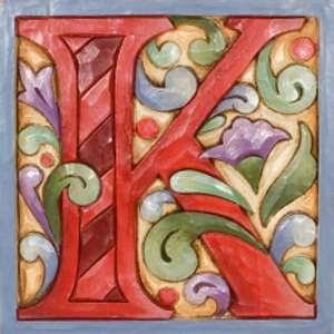 K: Initials Letters, Jim Shore, Kristi, Shore Monograms, Letters K, Letters Blocks, Design Letters, Alfabeto Jim