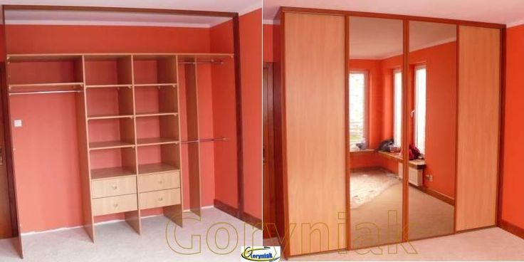 Szafa w zabudowie w sypialni montowana na wykładzinie dywanowej - www.Goryniak.pl