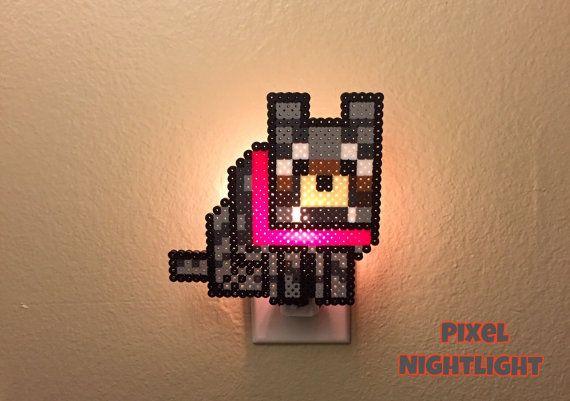 Minecraft Wolf Mincraft inspired Nightlight by PixelNightlight