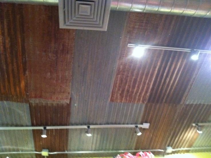 metal on ceiling