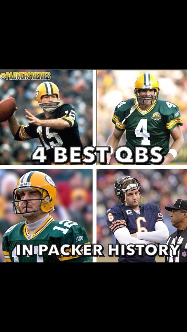 4 greatest QBs in Green Bay history.