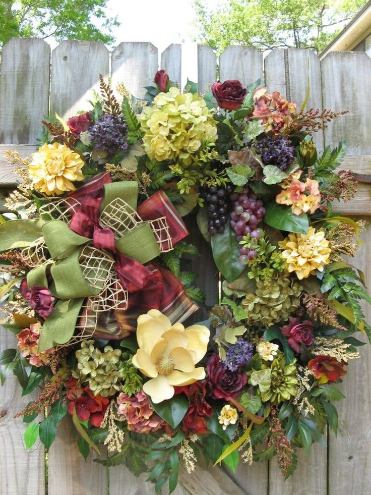 """CHATEAU BORDEAUX"" FRENCH COUNTRY, ENGLISH COUNTRY, OLD WORLD, DOOR WREATH"