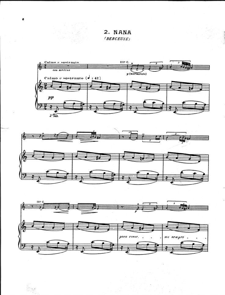 Falla, Manuel de - Siete Canciones Populares Españolas - 05 Nana (Violín Y Piano) - Documents