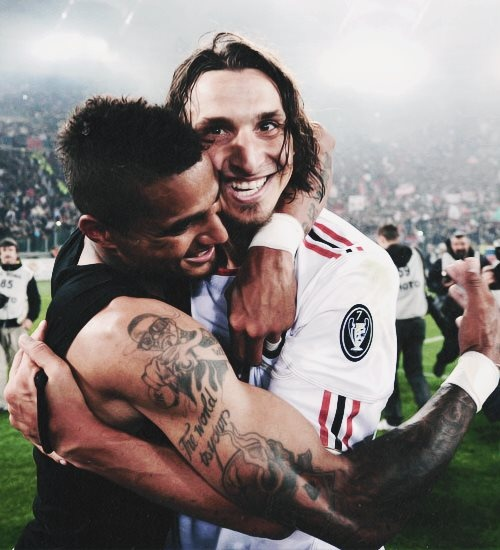 Kevin Prince Boateng With Ibrahimovic