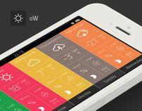 """Weather App """"Outside the window"""" v 2.2 by Artem Svitelskyi, via Behance"""