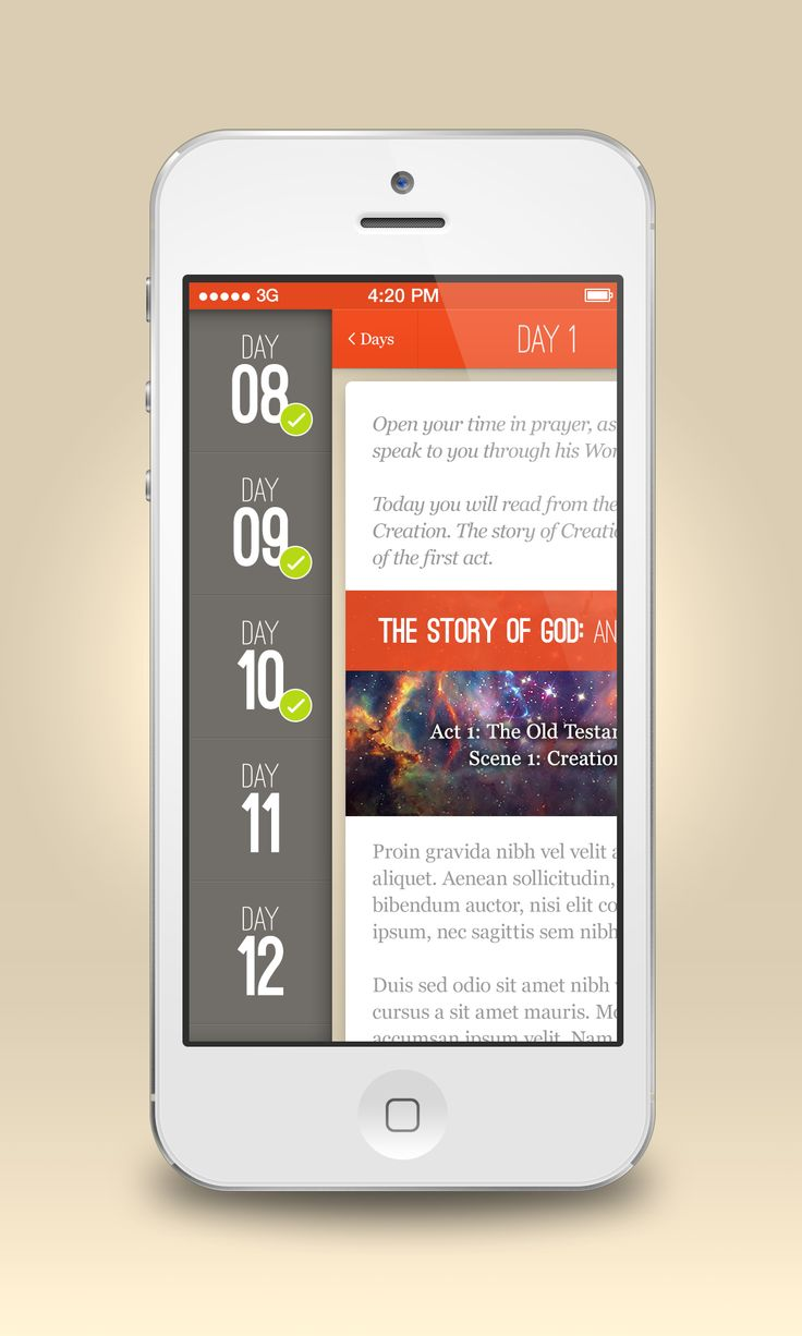 Mobile app by CalmSpark #POTD99 10.20.2013 #grids