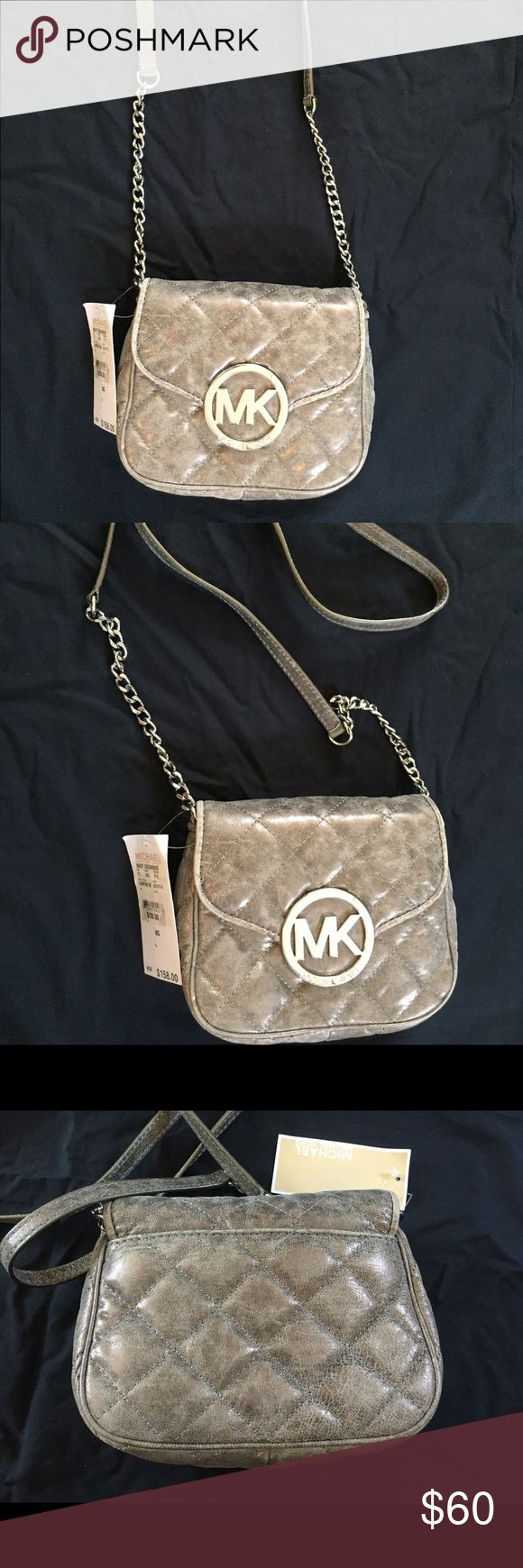 Michael Kors gray purse Brand new with tags, cross shoulder purse Michael Kors Bags Mini Bags