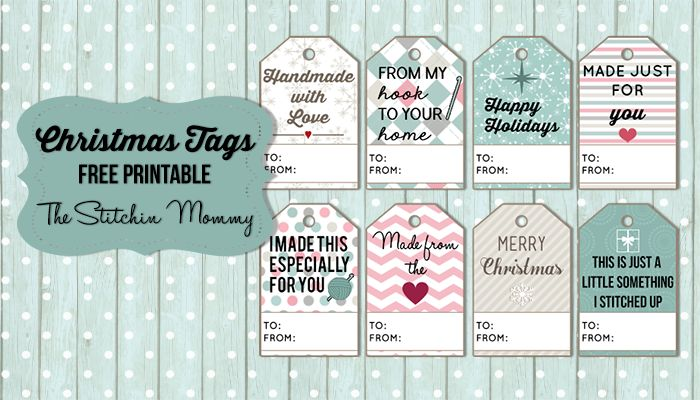 Christmas Gift Tags - Free Printable www.thestitchinmommy.com