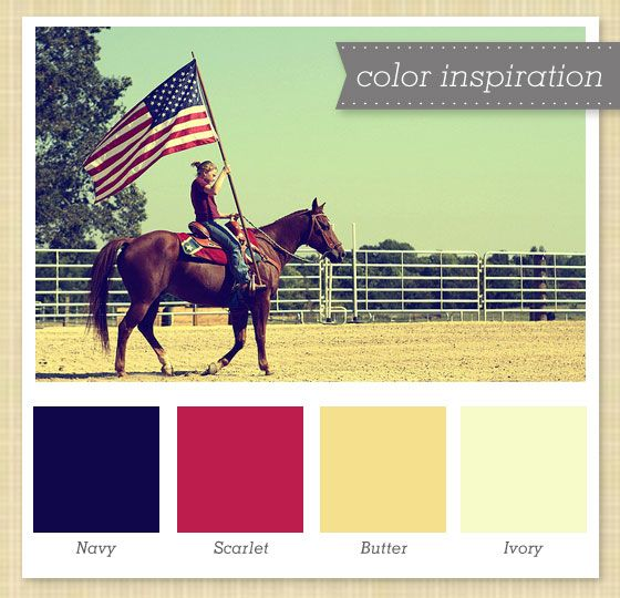 Navy, Red, Yellow and White Color Palette by Sarah Hearts