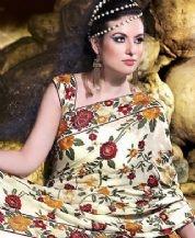 Parsi hand embroidered wedding saree