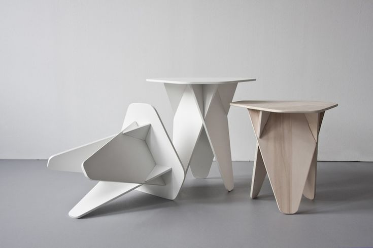 "leibal: "" Inspired by furniture that is easy to assemble and break down, the Wedge Table is one of Kowalewski's latest furniture pieces that is simple, space saving and involves little hand labor..."