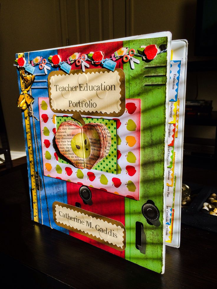 Teacher Portfolio Cover | Classroom References | Pinterest ...
