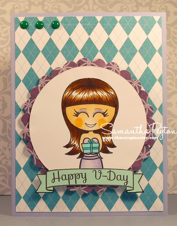 Scrapmaster's Paradise: Preview Day 3: Happy V-Day Emma Card