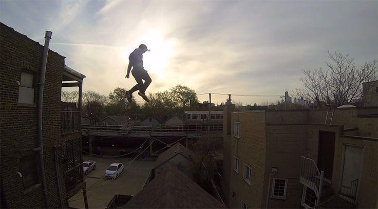 Ethan Swanson, a professional stunt man.