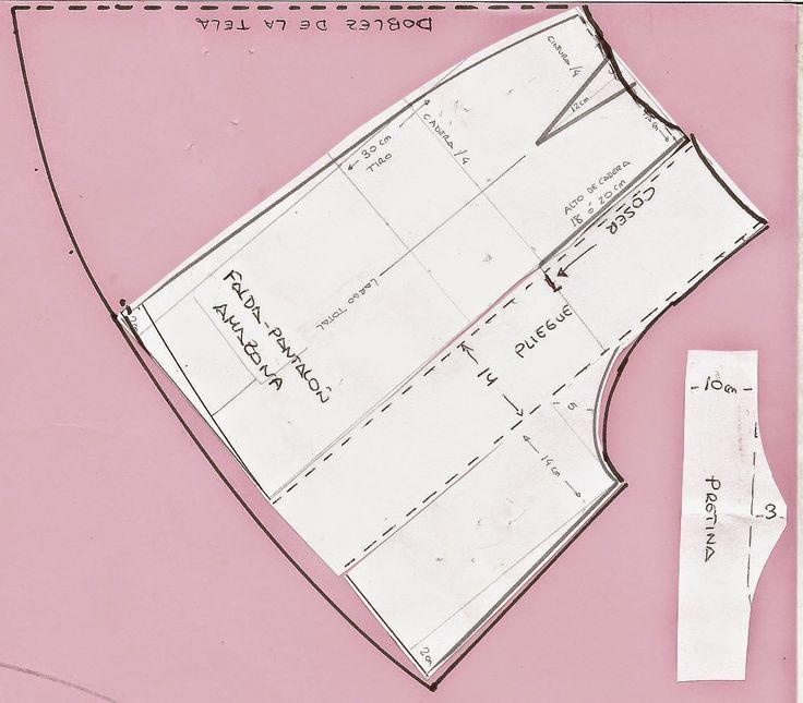 falda pantalón de amazona con fuelle central