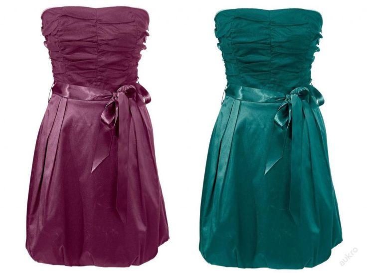 * NOVÉ ,,LUXUSNÍ společenské šaty vel. 36, 44 - vínové :: AVENTE ...móda s nápadem