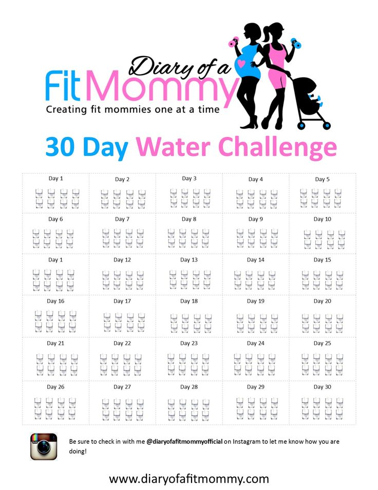 Diary of a Fit Mommy | 30 Day Water Challenge. Dowload this free printable and take the challenge to prevent holiday weight gain!