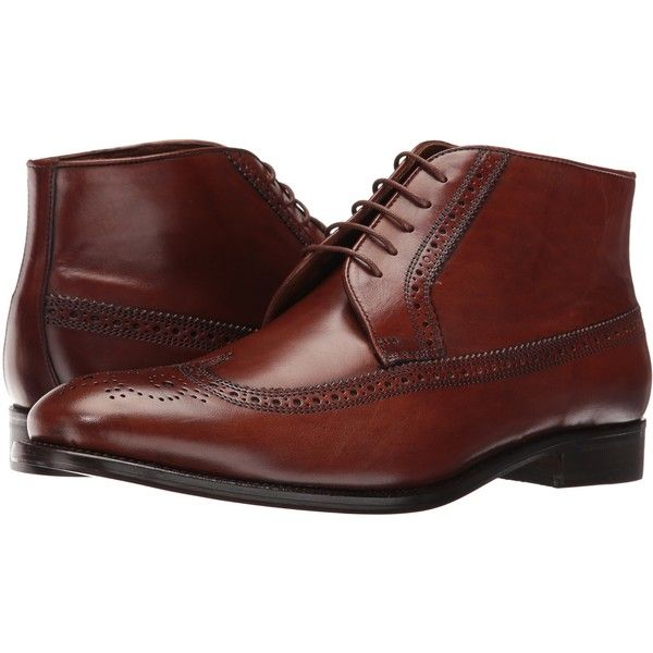 Massimo Matteo 5-Eye Chukka Wing (Castagna) Men's Lace-up Boots ($81) ❤ liked on Polyvore featuring men's fashion, men's shoes, men's boots, brown, mens brown leather boots, mens brown leather lace up boots, mens chukka boots, mens leather lace up boots and mens brown leather shoes