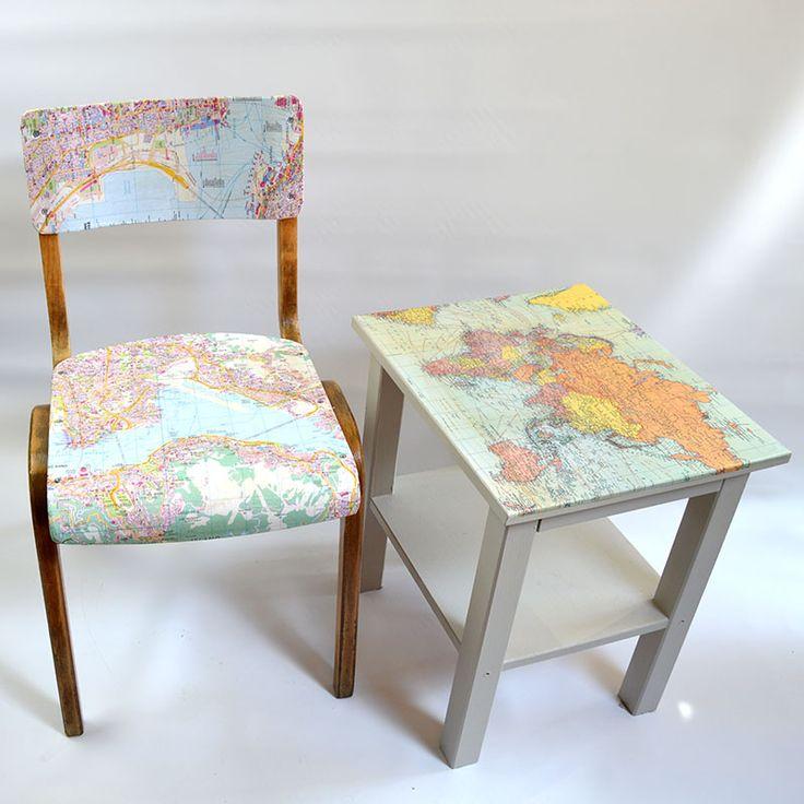 Map table & chair pillarboxblue.com