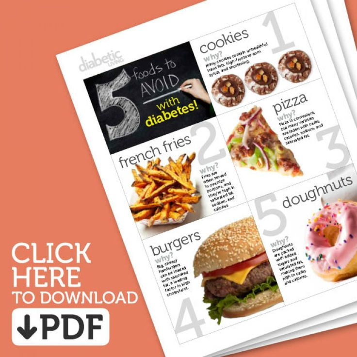 Top 5 Foods to Avoid with Diabetes Mini Cookbook