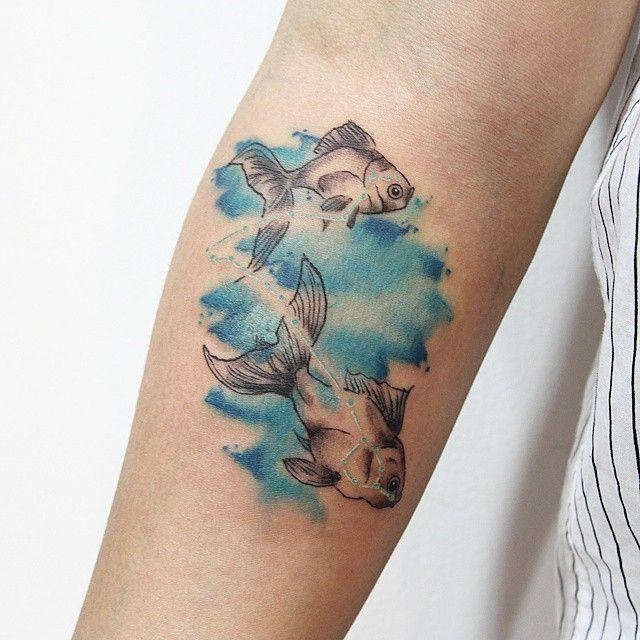 Tattoo Ideas Pisces: 37 Best Tatouage Signe Du Zodiaque : Poisson Images On