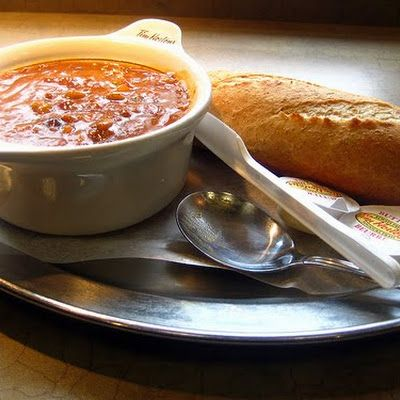 Tim Hortons Chili (a copycat recipe) @keyingredient #soup #tomatoes