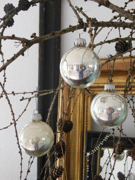 3er Set Christbaumkugeln silber von Petite Maison auf DaWanda.com
