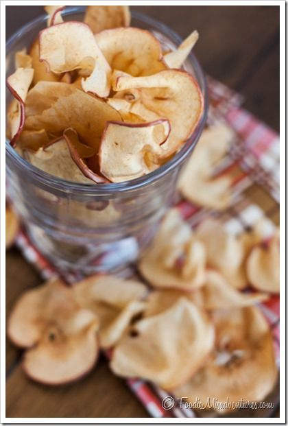 Baked Apple Chips - These crunchy apple chips make an easy and healthy snack - so addicting!