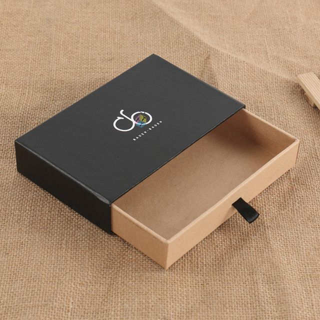 Source cardboard drawer sliding gift bow tie kraft paper ...