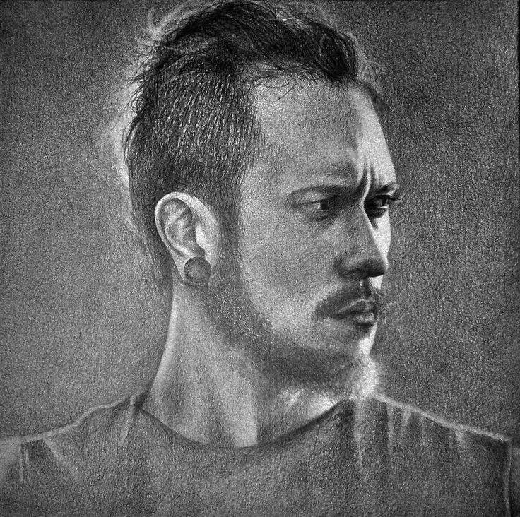 Rysunek Matt Heafy z zespołu Trivium Ołówek A4 Drawing of Matt Heafy from Trivium Pencil A4  https://www.facebook.com/grzebiencukru.art