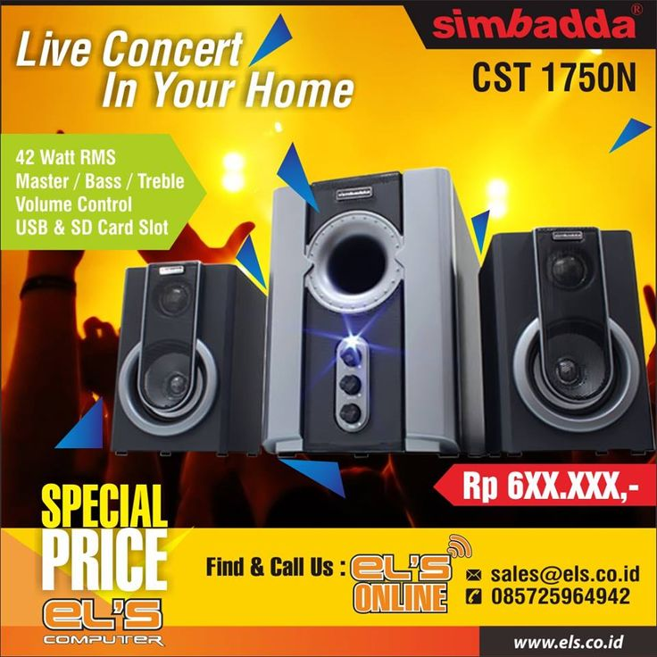 Simbadda CST 1750N Speaker Handal untuk aktifitas bermusik anda. Bisa order online via els.co.id #els #elscomputer #yogyakarta #solo #purwokerto  info --> www.els.id/ SMS/WA --> 085725964942 BBM PIN --> 56083D42 Email --> sales@els.co.id