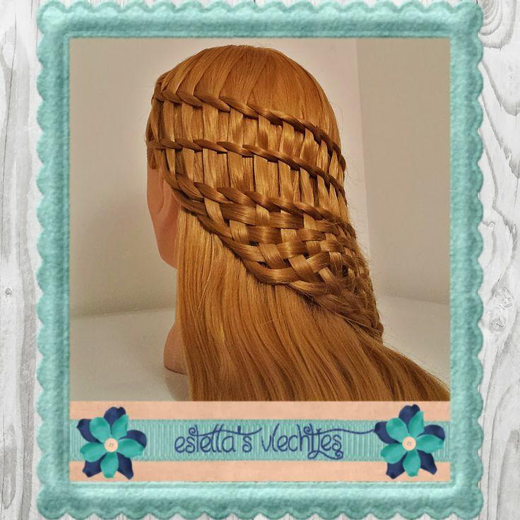 hairstyle met drie watervaltwists en het einde geweven