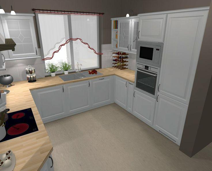 kuchnia biała projekt  Projekty  Pinterest -> Kuchnia Unik Biala