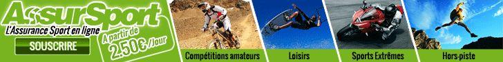 AssurSport est le spécialiste de l'assurance sport et loisirs à la carte en Europe. (Loisirs, compétitions amateurs, hors-piste / sports extrêmes). Vous pratiquez seul, en famille ou entre amis, l'assurance sport et loisirs AssurSport vous assure à la journée, à la semaine, ou à l'année à partir de 2,5€ par jour! 24h/24 et 7j/7!