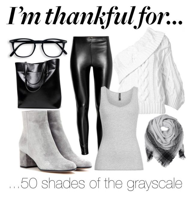 """""""I'm thankful, Grey"""" by inauniqe on Polyvore featuring Rosie Assoulin, Gianvito Rossi, BeckSöndergaard and imthankfulfor"""