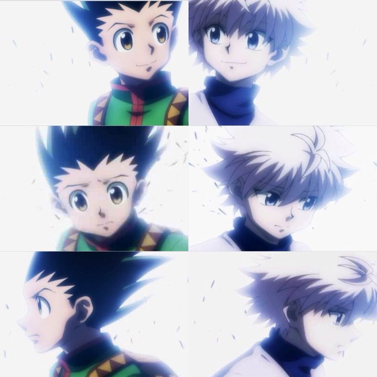 Gon and Killua ~Hunter X Hunter.. the saddest movement which still breaks my heart every time i watch..
