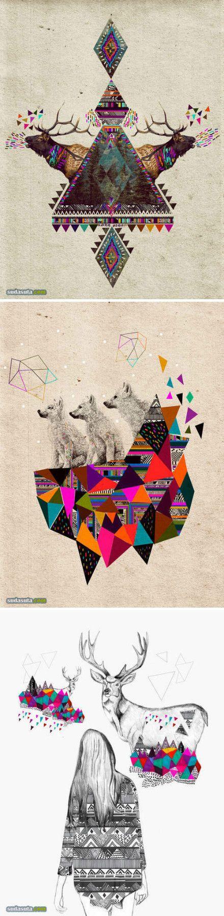 [] 视觉同盟瑰丽的三角形元素来自:新浪...