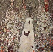 Garden Path With Chicken  by Gustav Klimt