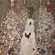 Garden Path With Chicken  by Gustav Klimt