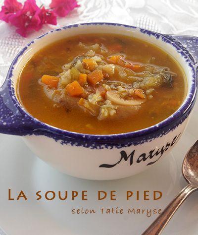 Connaissez-vous la soupe de pied? C'est une de ces soupes antillaises réalisées par les aînés à découvrir absolument! J'en raffole pour ma part...