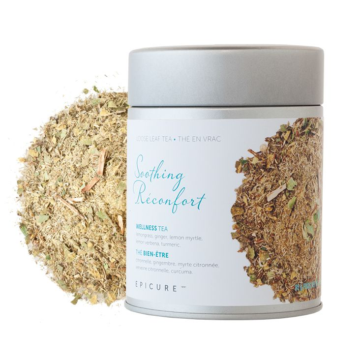 Soothing Wellness Tea: An aromatic blend with notes of ginger and lemon that will lift your spirits. (Kosher)